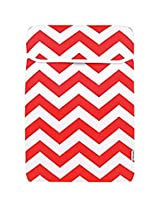 TopCase Chevron Series Red Sleeve Bag Cover for New Released Macbook 12 12-Inch Model : A1534 Retina Notebook
