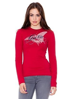 Guru T-shirt Wood View (Rojo)