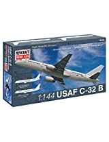 Minicraft C-32B USAF Airplane Model Kit (1/144 Scale)