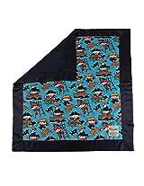 """My Blankee Kids Ahoy Minky Blue w/ Minky Dot Navy Baby Blanket, 30"""" x 35"""""""