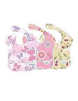 Bumkins S3-G6 Pink Paisley Girl Assortment Superbib Bib 3-pack - Bumkins S3-BUYG