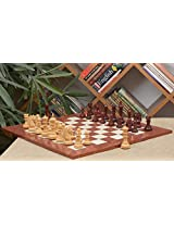 Chessbazaar Combo Of Hurricane Series Chess In Bud Rose/Box Wood & Red Ash Burl Maple Gloss Finish Board With Wooden Storage Box