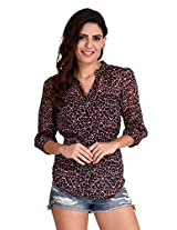 The Gud Look Womens Tops & Tees (10001351-L _Pink _Large)