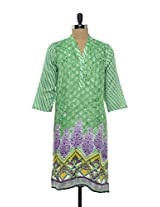 Vibrant Green Cotton Kurta