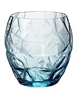 Luigi Bormioli Prezioso Water Glass (Set of 4), 13.5 oz, Blue