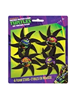Foam Teenage Mutant Ninja Turtles Throwing Star Party Favors, 4ct