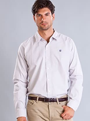Timberland Camisa Rayas (Blanco / Salmón)
