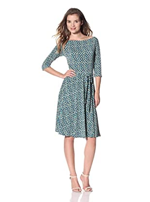 Leota Women's Ilana Dress (Peacock Plaid)