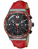 Swatch Men's YVM401 Irony Analog Display Swiss Quartz Red Watch