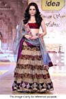 Bollywood Replica Celiena Jaitley Net and Velvet Lehenga In Beige and Purple Colour 1204