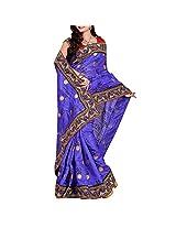 Blue Bhagalpuri Saree