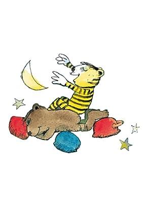 Beiwanda Kids Wandtattoo Tiger und Bär greifen nach den Sternen