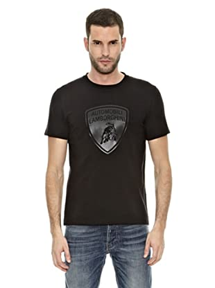 Lamborghini Camiseta Taped Shield (Negro)