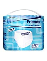 Friends Disposable Pull-ups - Large-XLarge - Case of 10 pull-up packs (100 total)
