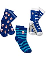 Country Kids Boys' Baseball Pick A Mix 3 Pair Socks