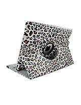 Sanoxy 360 Degrees Rotating Stand Stylish Animal Print Case for Apple iPad 4, iPad 3 and iPad 2 (2nd gen) - LEOPARD RAINBOW