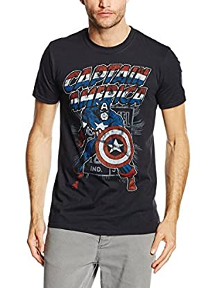 Marvel T-Shirt Manica Corta Captain America Retro