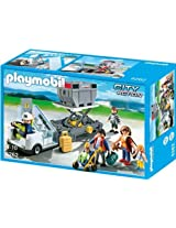 Playmobil Aircraft Stairs with Passengers and Cargo, Multi Color