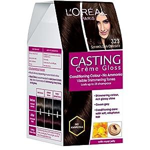 L'Oreal Paris Casting Creme Gloss, Sonam's Dark Chocolate 323, 87.5+72ml.