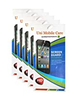 Uni Mobile Care Samsung Galaxy Note II 7100 Clear Screen Guard/Protector (combo pack of 5 pcs)