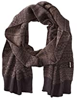 Muk Luks Men's Fine Gauge Jacquard Scarf, Grey, One Size
