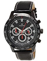 Maxima Attivo Chronograph Black Dial Men's Watch - 25950LMGB