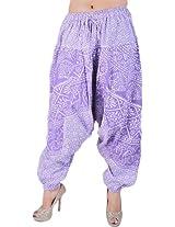 Exotic India Womens Pure Cotton Harem -Purple, (Free Size)