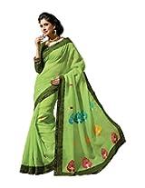 Triveni Blended Cotton Saree (TSMRCC138_Green)