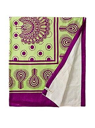 Nomadic Thread Swahili Towel, Lime/Purple