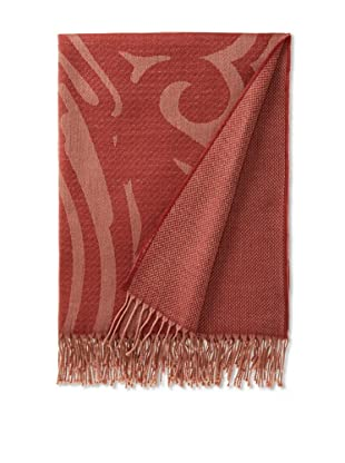 Somma Gea Lambswool Throw (Brick Red)