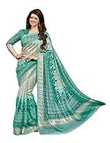 Bhavi Creations Presents Printed Sanganeri Silk Saree