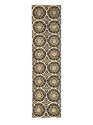 Darya Rugs Fine Modern Oriental Rug, Walnut, 2' 8