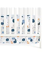 aden + anais Organic Crib Skirt, Into The Woods, Foxy