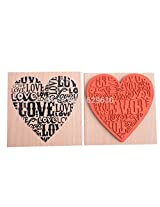 1pc New Fashion Assorted Retro Vintage Wooden Rubber LOVE HEART Stamp For Diary Scrapbooking Card Making DIY Craft Home Decoration