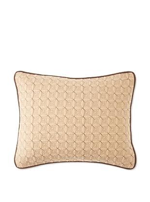Circle Ring Pillow Sham (Cornsilk/Brown)