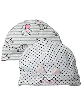 ABSORBA Baby-Girls Newborn G Kitty 2 Pack Cap Set