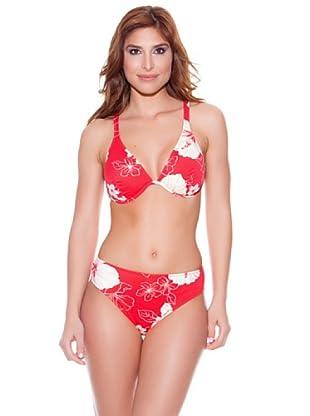 Teleno Bikini Reductor Escote Halter C (Rojo)