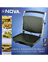 Nova Grill Sandwich Press NGS-2452 with 1 Year Warranty