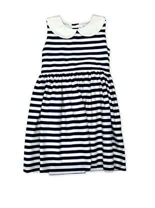 Rachel Riley Vestido Striped (Marino / Blanco)
