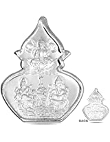 RSD 5 Grams Silver Coin of lords GANESH,LAKSHMI,SARASWATHI 99.90 Finess