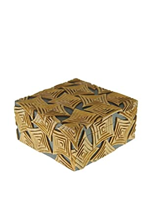 The Niger Bend Square Soapstone Box with Multiple Squares Design
