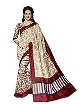 Bhavi Creations Presents Printed Ghicha Silk Saree
