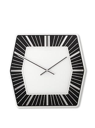NeXtime Hexagon Wall Clock (Black/White)