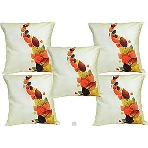 Me Sleep Cushion Covers Painted Leaves (Set Of 5)