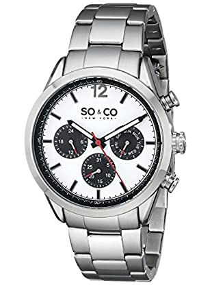 SO&CO New York Quarzuhr 5004.2 43 mm silber