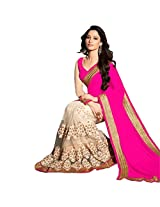 Indian E Fashion Top Exclusive party wear Georgette and Embrodery work sarees for women ladies girls & wife