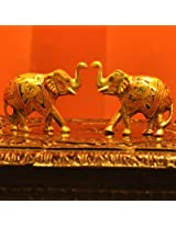 Brass Engraved Curios- Elephants (BECE)