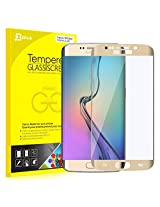 S6 Edge Screen Protector, JETech 0.2mm Thinnest Full Screen 5.1 Inch Premium Tempered Glass Screen Protector Film for Samsung Galaxy S6 Edge (Gold)