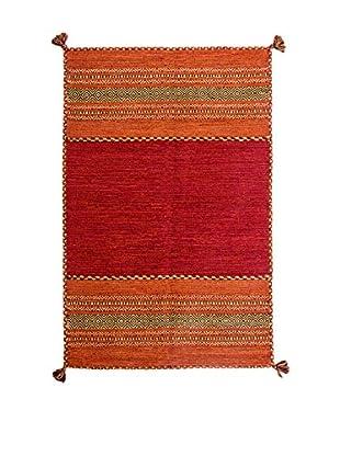 RugSense Alfombra Kilim Tribal Rojo 230 x 160 cm