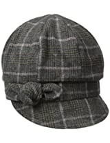 Betmar Women's Adele Plaid Cap with Bow